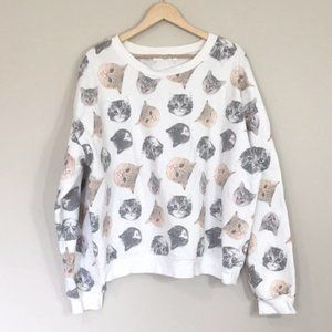 [Wound Up] Vintage Crazy Cat Lady Crewneck